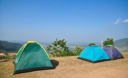 Campa tält Fotografering för Bildbyråer