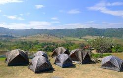 Campa tent Royaltyfri Bild