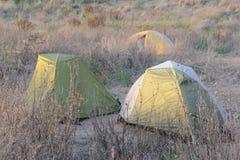 campa tents Royaltyfria Foton