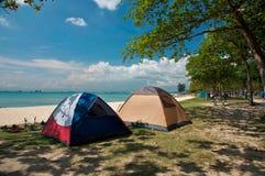 campa tents Royaltyfri Foto
