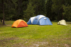 Campa tents Royaltyfri Fotografi