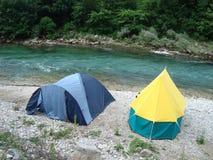 campa tents Arkivfoto