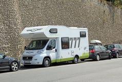 Campa turnera skåpbilen Royaltyfri Bild