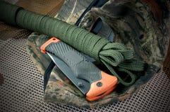 campa utrustning Royaltyfria Bilder