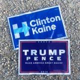 Campaña presidencial 2016 Fotografía de archivo libre de regalías