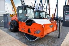 campactor asfaltowa pomarańcze Zdjęcie Stock