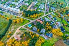 Campagna aerea nella stagione di caduta in Lituania Fotografia Stock