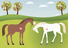 Campagna amorosa illustrazione vettoriale