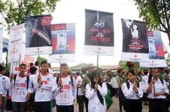 Campagna contro il fumo Fotografia Stock