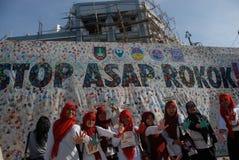 CAMPAGNA CONTRO IL FUMO DELL'INDONESIA Immagine Stock