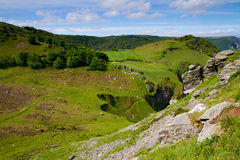 Campagna del Devon nella valle delle rocce Lynton Immagine Stock Libera da Diritti