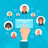 Campagna del email illustrazione di stock