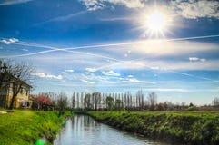 Campagna del fiume della primavera Fotografia Stock Libera da Diritti