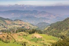 Campagna del Guatemala e del paesaggio degli altopiani Fotografia Stock Libera da Diritti