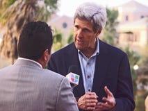 Campagna del John Kerry per Obama nel Texas del sud Fotografia Stock Libera da Diritti
