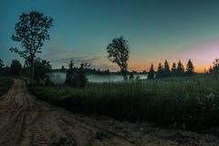 Campagna della Lettonia fotografia stock