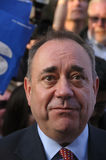 Campagna 2014 di Alex Salmond Scottish Indy Ref Fotografia Stock