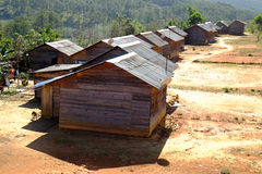 Campagna di Dalat, alloggio, cassapanca, paesaggio Fotografia Stock Libera da Diritti