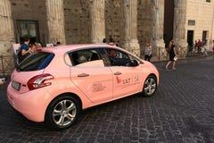 Campagna di informazione del cancro al seno a Roma Immagini Stock