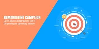 Campagna di ritorno sul mercato, pubblico che mira, vendita determinata dati, pubblicità digitale, cliente, concetto del mercato  Fotografia Stock Libera da Diritti