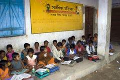 Campagna di saper leggere e scrivere a scuola Fotografie Stock Libere da Diritti