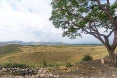 Campagna e le montagne della Galilea nella valle di hula Immagini Stock