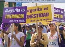Campagna elettorale a Santiago, rappresentante domenicano. Fotografia Stock Libera da Diritti