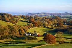 Campagna inglese di rotolamento in autunno Immagini Stock