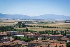 campagna intorno a Avila, Castiglia y Leon, Spagna immagini stock