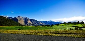 Campagna Nuova Zelanda Fotografia Stock