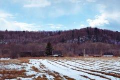 Campagna pittoresca e colline nei precedenti Fotografia Stock