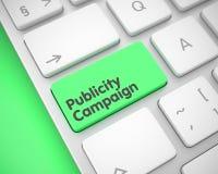 Campagna pubblicitaria - iscrizione sulla tastiera verde della tastiera 3d Immagini Stock