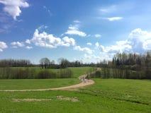 Campagna rurale di Latgalian Fotografie Stock Libere da Diritti