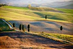 Campagna toscana, paesaggio italiano immagine stock libera da diritti