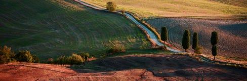 Campagna toscana, paesaggio italiano Immagini Stock Libere da Diritti