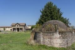 Campagna vicino a Vercelli, Italia, ad estate fotografie stock