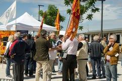 Campagne électorale de Lega Nord, Venise, Italie Photographie stock libre de droits