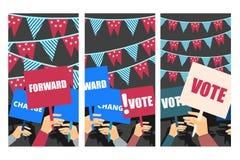 Campagne électorale, vote d'élection, affiche d'élection illustration de vecteur