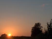 Campagne au coucher du soleil Images libres de droits