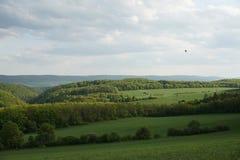 Campagne, avec Rolling Hills verte photo stock