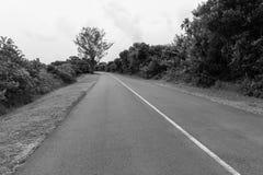 Campagne blanche noire de route Photos libres de droits