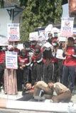 CAMPAGNE CONTRE LE TABAC D'ACTION D'ÉTUDIANT Images libres de droits