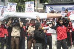 CAMPAGNE CONTRE LE TABAC D'ACTION D'ÉTUDIANT Photos libres de droits