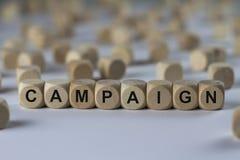Campagne - cube avec des lettres, signe avec les cubes en bois Photo stock