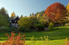 Campagne d'automne Photographie stock