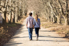 Campagne d'automne de couples image stock