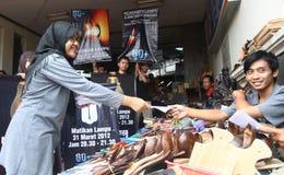 Campagne d'heure de la terre en Indonésie Photos stock