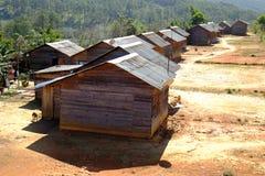 Campagne de Dalat, logement, banc à dossier, paysage photo libre de droits