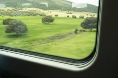 Campagne de fenêtre de train Image libre de droits