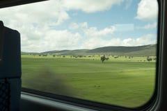 Campagne de fenêtre de train Photographie stock libre de droits